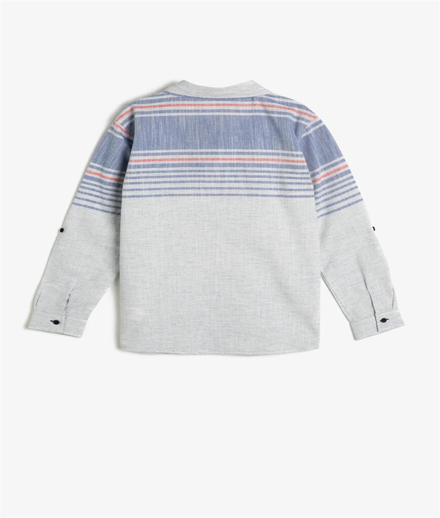 Katlanabilir Kollu Klasik Yaka Gömlek