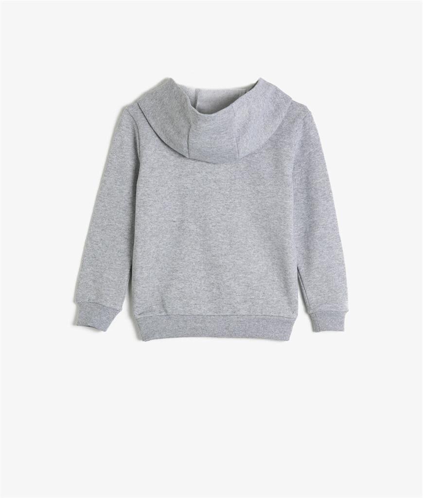 Kapüşonlu Yazılı Baskılı Sweatshirt